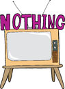 Nothing on tv television cartoon over isolated white background Royalty Free Stock Photo