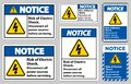 Notice Risk of electric shock Symbol Sign Isolate on White Background Royalty Free Stock Photo