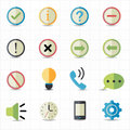 Notification and information icons this image is a vector illustration Royalty Free Stock Photography