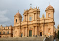 Noto cathedral the roman catholic is built from the pale yellow limestone in the sicilian baroque style Royalty Free Stock Photography