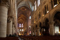Notr damm interior of notre dame de paris Stock Image