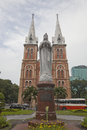 Notre dame basilica in saigon on october bishop isidore colombert laid the first stone an inaugural ceremony the construction of Royalty Free Stock Photography