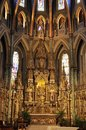 Notre - Dame Cathedral Basilica building interior from Downtown Ottawa in Canada