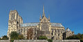 Notre dame cathedral in the city of paris france europe Stock Photography