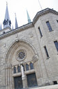 Notre dame cathedral in grand duchy of luxembourg Royalty Free Stock Images
