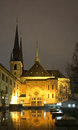 Notre-Dame Cathedral in Luxembourg city Royalty Free Stock Photo