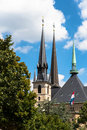 Notre Dame cathedral, Luxembourg Royalty Free Stock Photo