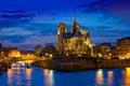 Dama en noche en París Francia
