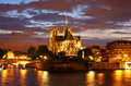 Notre Dame cathedral in Paris Stock Photos