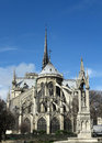 Notre dame cathedral paris france Royalty Free Stock Photo