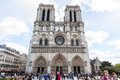 Notre dame cathedral paris france october on october in paris france it is one of the most important examples of gothic Royalty Free Stock Photography