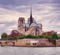 Notre Dame cathedral in Paris Royalty Free Stock Photo