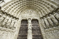 Notre dame de paris details of france Royalty Free Stock Photo