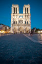 Notre Dame de Paris at night. Royalty Free Stock Photo
