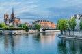 Notre dame de paris and the seine river France Royalty Free Stock Photo
