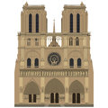 Notre dame de paris vector image of Royalty Free Stock Image