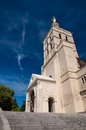 Notre dame des doms cathedral in Avignon Royalty Free Stock Photo