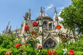 Notre Dame from Garden Royalty Free Stock Photo