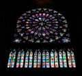 Notre dame inside view Royalty Free Stock Photography