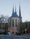 Notre dame luxembourg cathedral in by day Stock Photo
