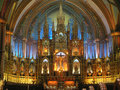 Notre dame montreal cathedral canada Royalty Free Stock Image