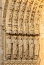 Notre Dame, Paris (France) - Bas reliefs Royalty Free Stock Photography