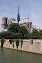 Notre damme of paris cathedral france Royalty Free Stock Images