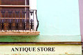 notting   hill  area  in london england antique store Royalty Free Stock Photo
