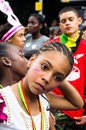 Notting hill carnival london august participants of august in london uk europe s biggest celebration of music movement and Royalty Free Stock Image