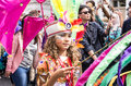 Notting hill carnival london august performers take part in the first day of august in london uk Stock Images
