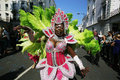 Notting hill carnival london uk august performers take part in the second day of largest in europe takes place over two Royalty Free Stock Photo