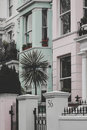 Notting Hill Pastel Homes Royalty Free Stock Photo