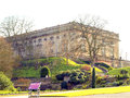 Nottingham castle this may break a dream but this is as it is today in the middle ages it was a major royal fortress and Stock Photo
