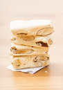 Nougat close up milky candy Stock Image