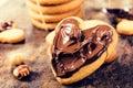 Nougat cookies Royalty Free Stock Photo