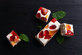 Nougat with tropical fruit Royalty Free Stock Photo