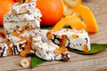 Nougat or turron sweets Stock Images