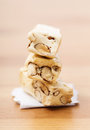 Nougat white on the table Royalty Free Stock Photography