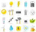 Nouve icon set: Power, Energy and Electricity Royalty Free Stock Photo