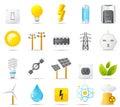 Sada skládající se z ikon moc energie a elektřina