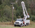 Nova scotia power truck pleasant valley canada sept is a utility company providing electrical for it is an emera owned Stock Image