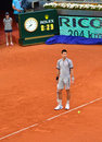 Novak djokovic at the atp mutua open madrid look confused in a game th may Stock Photography