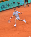 Novak djokovic playing againsta grigor dimitrov at mutua open madrid th may Stock Image