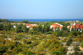 Novalja island pag panorama croatia dalmatia city of ​​ on the region adriatic sea Stock Photo