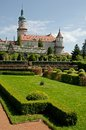 Nove mesto nad metuji czech republic castle and castle garden in eastern bohemia Royalty Free Stock Image