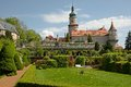 Nove mesto nad metuji czech republic castle and castle garden in eastern bohemia Stock Photography