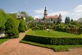 Nove mesto nad metuji czech republic castle and castle garden in eastern bohemia Royalty Free Stock Photo