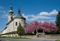 Nove mesto nad metuji czech republic monastic church of the nativity of the virgin mary in eastern bohemia Stock Photography