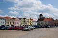 Nove mesto nad metuji czech republic old houses on the square in eastern bohemia Stock Images