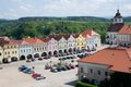 Nove mesto nad metuji czech republic square in from castle tower eastern bohemia Royalty Free Stock Photography